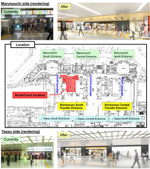 JREASTPress Releases TOKYO STATION CITY SouthCourt Opens March