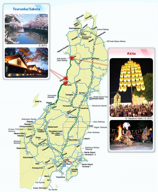 Inaho Route Maps JREAST - Japan map yamagata