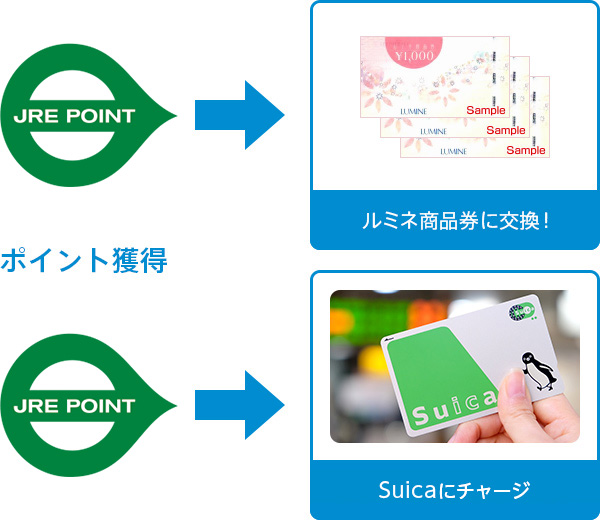 a5c7815665aa5 貯まったポイントは、ルミネ商品券に交換したり、Suicaにチャージ