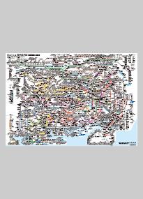 Major Railway And Subway Route Map Metropolitan Area