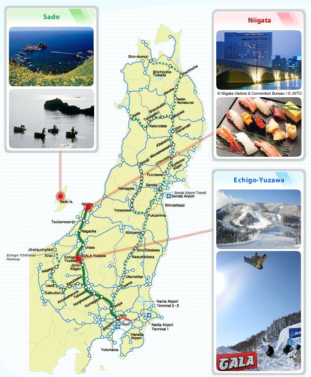 Joetsu Shinkansen Route Maps JREAST - Joetsu map