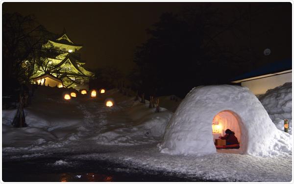 Northern Tohoku Region Winter Have Fun In The Snow