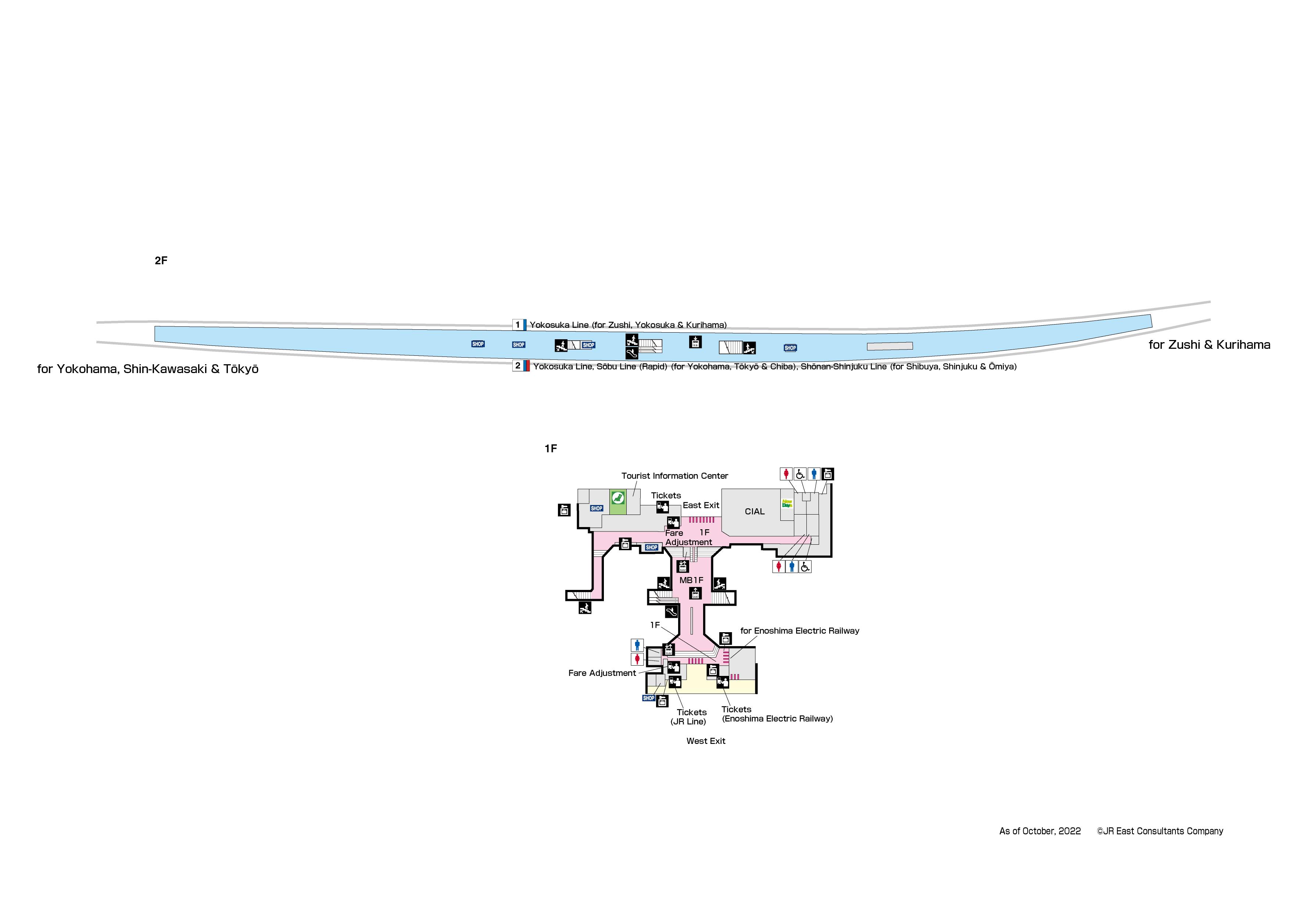 Kamakura Station Map JR EAST:Guide Maps for Major Stations (Kamakura Station)