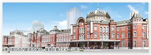 JR東日本<br />東京駅丸の内駅舎の保存・復原計画(イメージ図) 画像