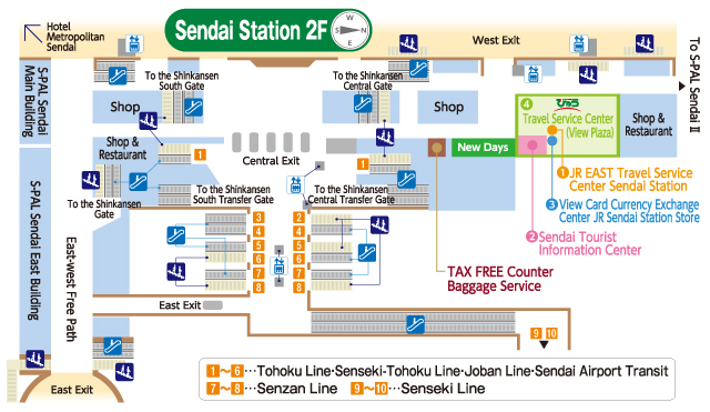 Sendai Station MAP