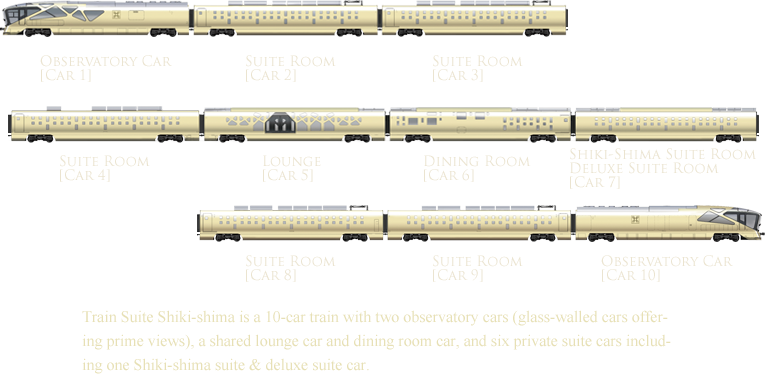 Train Suite Shiki-shima is a 10-car train with two observatory cars ... Maserati Quattroporte 2013 Interior