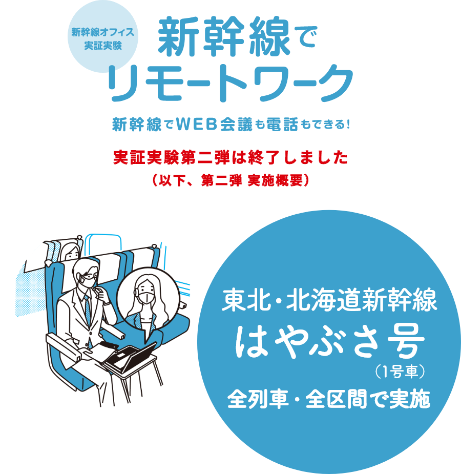JR東日本「新幹線オフィス」実証実験第二弾実施概要