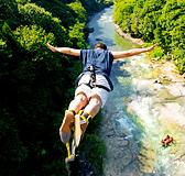 諏訪峡の名物バンジージャンプ